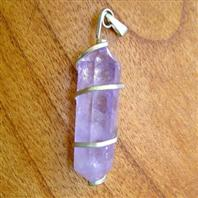 Amethyst wrapped pendant