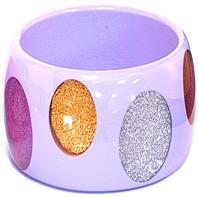 Purple glitter spot bangle
