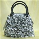 B and W leopard print handbag 1