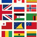 Flags of the world gift wrap paper